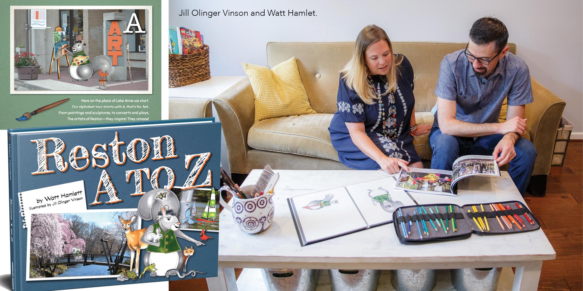 Reston A to Z illustrated by Jill Olinger Vinson andwritten by Watt Hamlet.