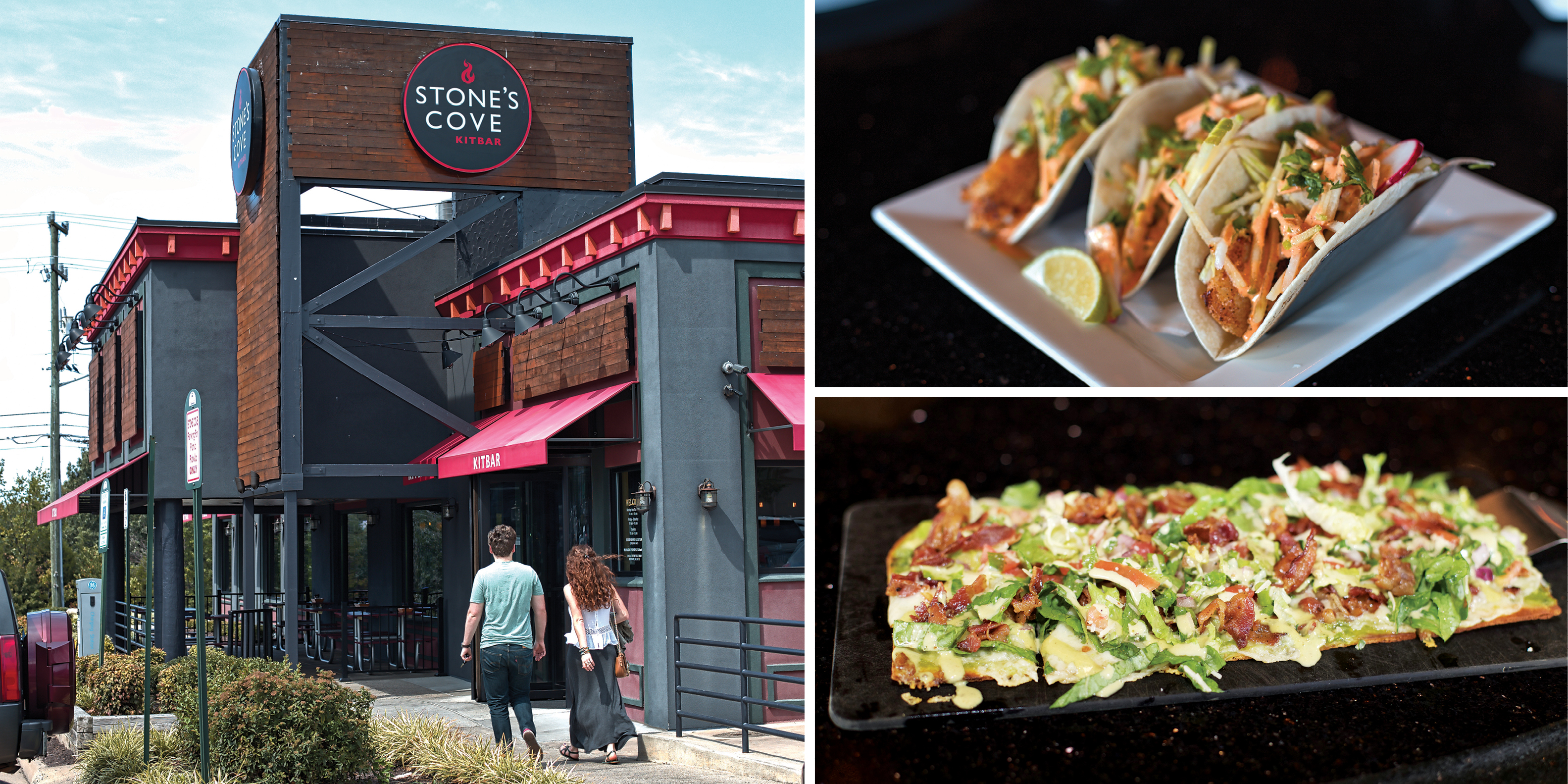 Stone's Cove Kitbar with tacos and flatbread