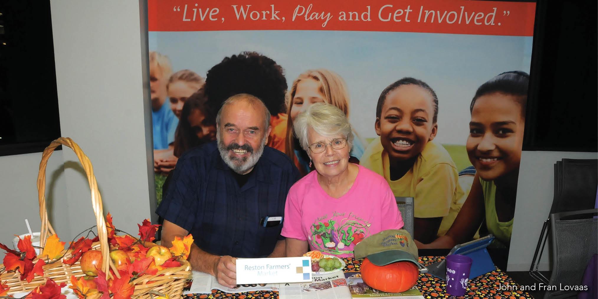 Reston Association open house: John and Fran Lovaas
