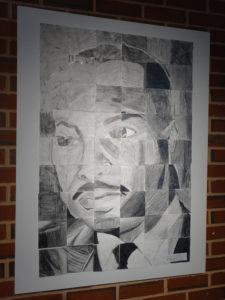 MLK Portrait Displayed at MLK Exhibit