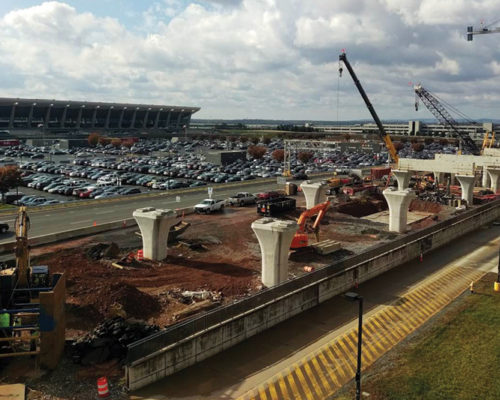 Aerial Guideway Entering East Side of Dulles Station