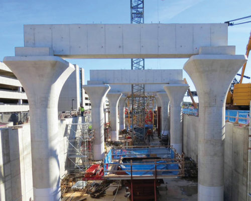 Dulles Airport Station Construction