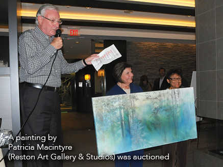 A painting by Patricia Macintyre (Reston Art Gallery & Studios) was auctioned