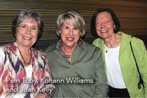 Pam Toby, Kohann Williams, and Joan Kelly