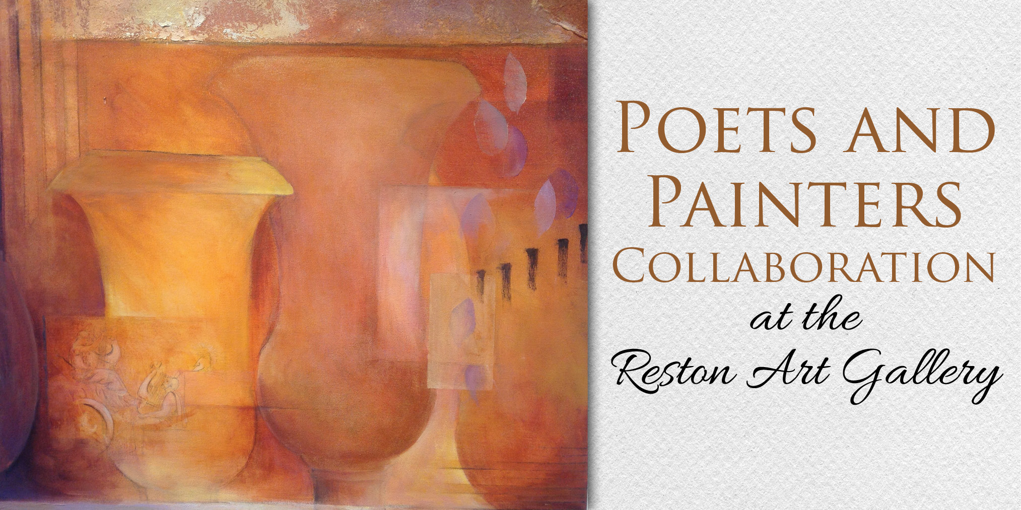 Poets and Painters Collaboration at the Reston Art Gallery