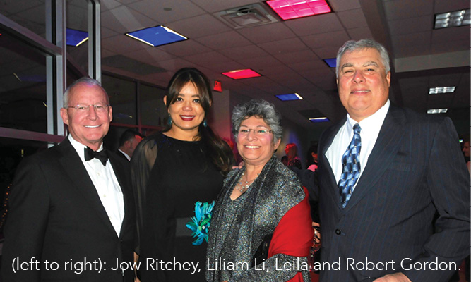 (left to right): Jow Ritchey, Liliam Li, Leila and Robert Gordon.