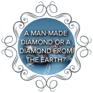 A man-made diamond or a diamond from the Earth?