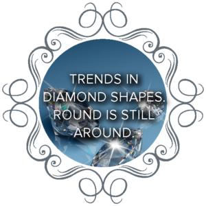 Trends in diamond shapes. Round is still around.