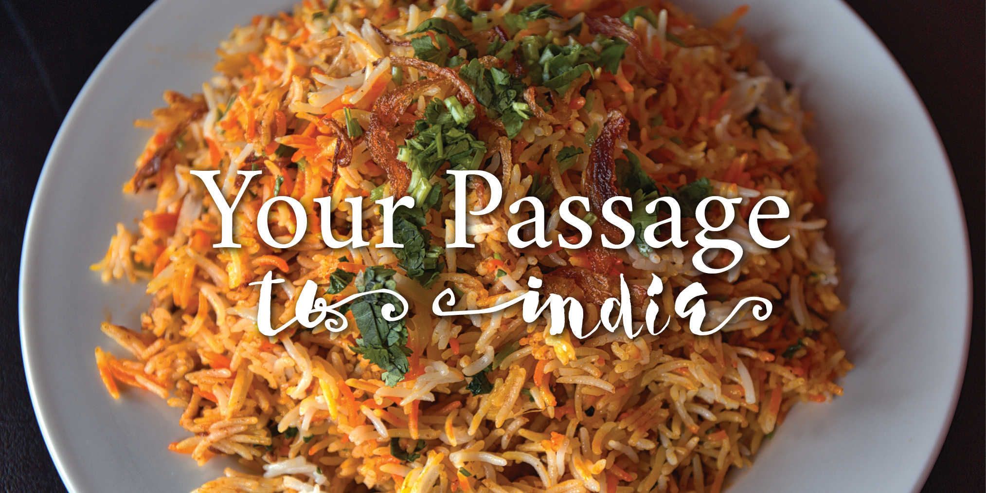 Your Passage to India - plate of Indian food