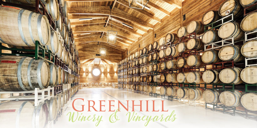 Greenhill Winery & Vineyards - barrels of wine