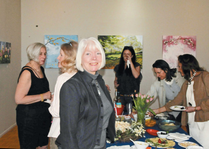 "Pat Macintyre at Dorothy Donahey's ""First Blooms"" Reception"