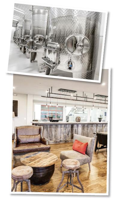 wine vats and tasting room
