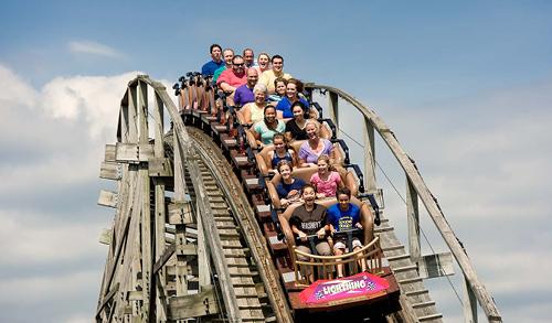 Hershey Park roller coaster