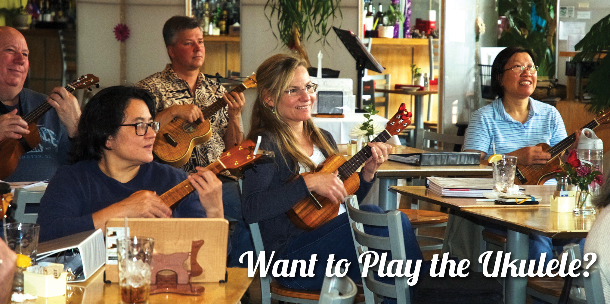 Want to Play the Ukulele? photo of people playing the ukulele