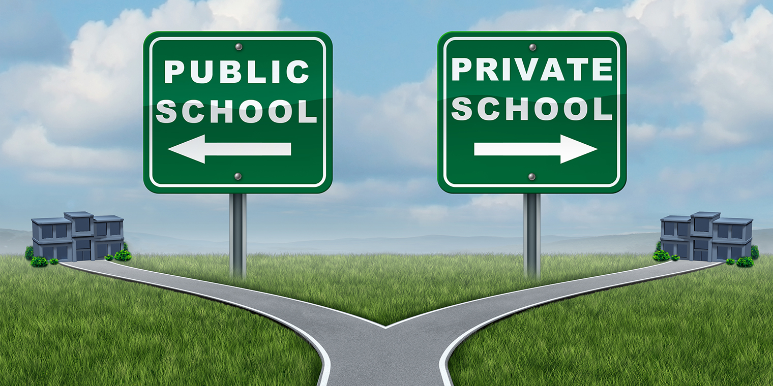 Public vs. private vs. charter schools