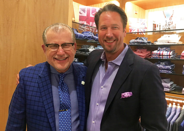 David Eisele and one of Davelle's best customers, Greg Nardi