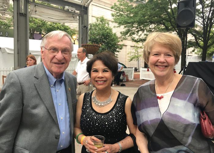 Del. Ken Plum, Rosemary Lauer, and Jane Plum