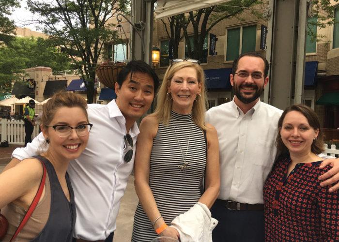 Danielle and Joe Crawford, Karen Cleveland, Mark and Ricki Marion