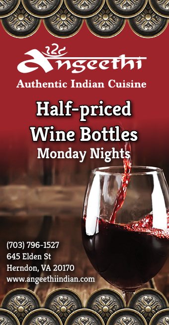 Angeethi Indian Cuisine - Half-priced Wine Bottles Moday Nights